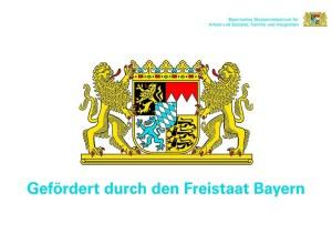 Förderhinweis Freistaat Bayern